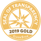 Guidestar Seal of Transparency - 2019 Gold