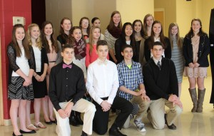 Trinity students pose before leaving for the Regional Social Studies Fair.