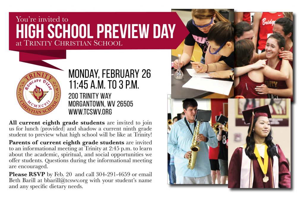 High School Preview Day @ Trinity Christian School | Morgantown | West Virginia | United States