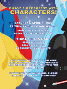 Breakfast with Characters - Canceled @ Trinity Christian School Gymnasium